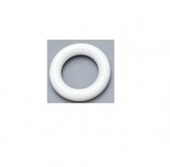 Argola plastica grossa para varÃo 30 mm branca