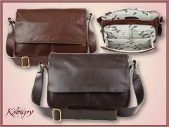Bolsa feminina em couro estilo minimalista - kabupy