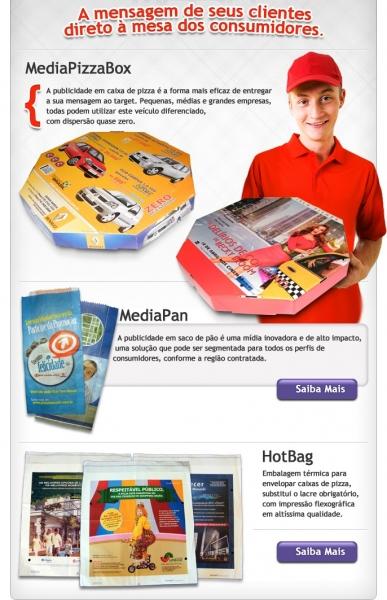 Publicidade em Caixas de Pizza