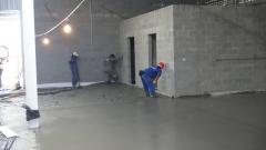 Sarrafeamento, adensamento e polimento de piso em concreto.