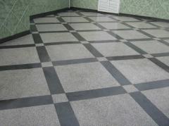 Piso em alta resistência de granilite com diversos layouts