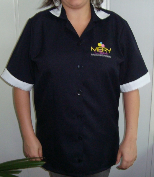 Foto Jaleco feminino para limpeza em oxford -> Limpeza Banheiro Feminino