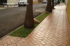 Construção de calçadas