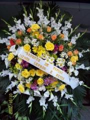 Coroa de condolÊncias em flores naturais