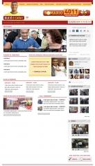 Criação de layout para o site da candidatura do romário.