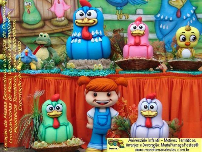 Decoração da Galinha Pintadinha Maria Fumaça Festas já tem fotos dos personagens que vão decorar a sua Festa Infantil. Veja mais em: http://www.mariafumacafestas.com.br/Temas/Galeria-Galinha-Pintadinha.shtml