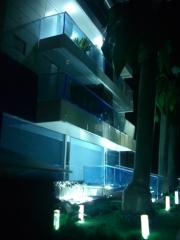 Edificio fountain hit construtora quadra - maquete iluminada 1/50 (vista da entrada)