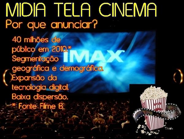 Midia Tela Cinema nas salas do Internacional Shopping em Guarulhos,Mogi Shopping e outros Cinemas é com a newBRAsil publicidade (11) 2484-8277