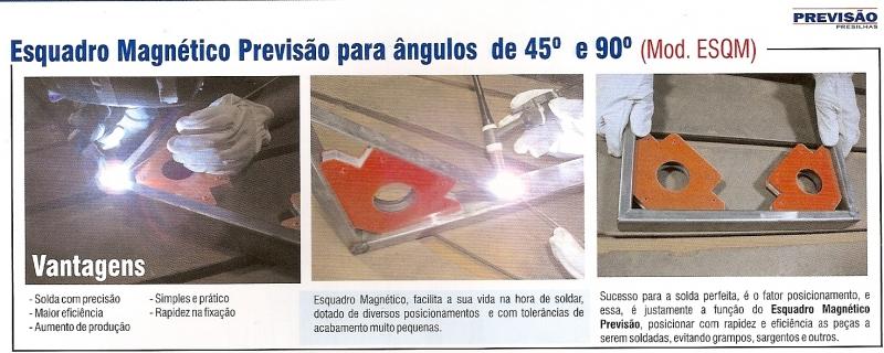 ESQUADRO MAGNTICO P/ SOLDAGEM - PREVISÃO IND. COM. PRESILHAS LTDA
