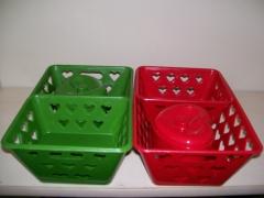 Kit de cestos e bomboniere um ótimo presente de pascoa cores variadas