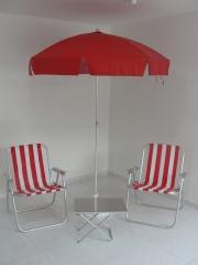 Guarda sol aste em alumínio-base em pvc-cadeira master 130kg
