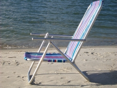 Cadeira de praia em alumínio com 2 posições