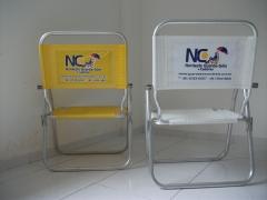 Cadeira de praia alta- em alumínio- master personalizada