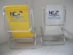 Cadeira de praia com 2 posições-encosto-personalizada