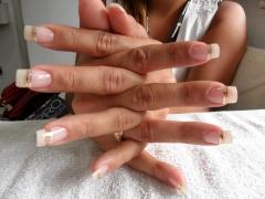 Mega hair (urias ferreira) e  unhas de gel  (mirian ferreira) unhas de fibra de vidro - foto 2