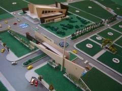 Construtora rover londrina - parque das allamandas maquete 1/400 (vista da entrada e da edificação principal)
