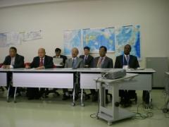 Salas perfeitamente adequadas as necessidades de treinamento, nas instalações da aots no japão.