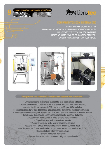 Equipamentos com Sistema CNC
