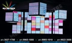 Painel led ph40 e cubo led ph40 - 1m³