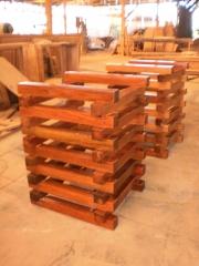 Pes de mesa madeira para colocar vidro temperado