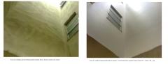 Antes e depões posso de ventilação impermeabilização das paredes - cond azaleia rua leopoldo campos nunes 827 - castelo - bh - mg.