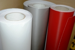 Adesivo fibra de carbono 03d - branca/prata/vermelha.