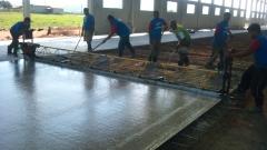 Piso de concreto - execução