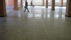 Piso de concreto lapidado