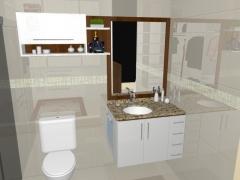 Projeto de banho em mdf