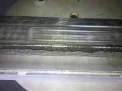 Condicionador de ar split antes da limpeza.