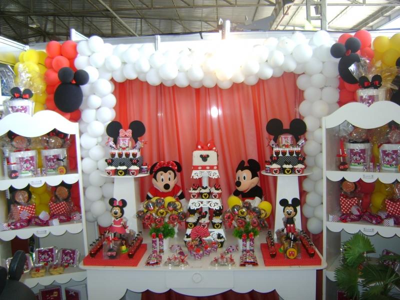 Decoração festa Infantil - Minnie e Mickey - 3ª ExpoFestas Campos dos Goytacazes