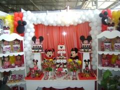 Decora��o festa infantil - minnie e mickey - 3� expofestas campos dos goytacazes