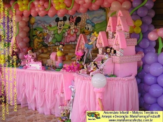Decoração de Aniversário Infantil - 1 aninho (meninas) Tema da Maria Fumaça Festas com detalhes em www.mariafumacafestas.com.br
