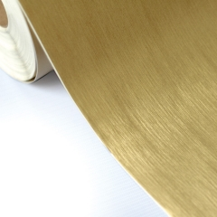Vinil adesivo aço escovado dourado