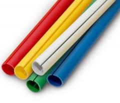 Perfil C para acabamento de banners, diversas cores e largura, 3 metros de comprimento