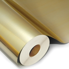 Poliéster ouro para recorte ou impressão por serigrafia ou U.V.