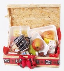 Café da manhã para o dia das mães em 2 opções de embalagem,cesta ou baú.