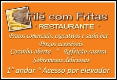 Filé com Fritas - Restaurante - Sushi Bar