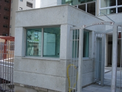 Blindagem de guarita n�vel iii-a (cond. residencial poa)