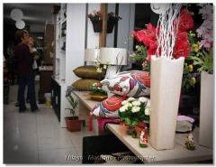 Flores permanentes arranjos vasos girlandas