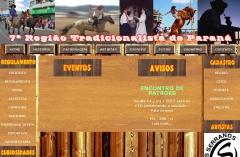 Site desenvolvido para Setima Regional Tradicionalista (www.7rtpr.com.br)