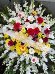 Coroa de flores.homenagens de empresas
