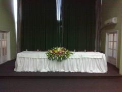 Centro de mesa solene