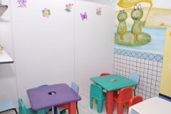 Salas de aulas adequadas para cada uma das idades