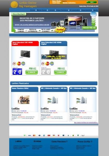 Tenha seu Site de Leilão na Internet