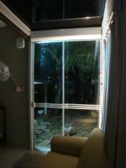Residencial porta de vidro temperada