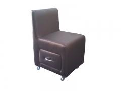 Cadeira de manicure em couro ecol�gico
