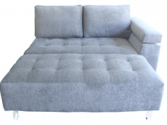 Sofa 2 lugares com pufe - tecido chenille