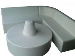 Jogo de sofa de canto para recepções e salões de beleza