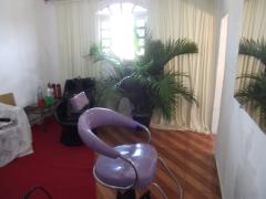 Sala de penteado e maquiagem
